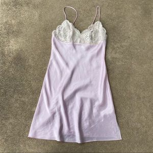 Victoria's Secret Vintage Satin Lace Slip Dress